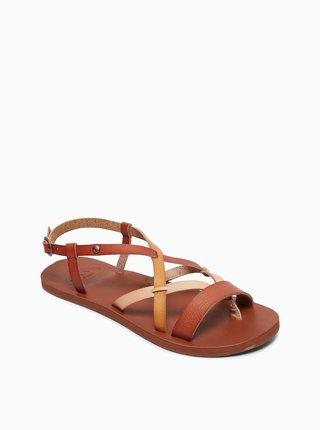 Hnedé sandále Roxy