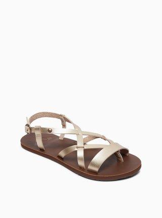 Sandále v zlatej farbe Roxy