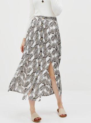 Černo-bílá květovaná maxi sukně Noisy May Miva