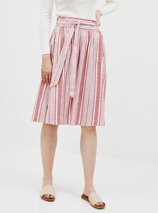 Růžová pruhovaná sukně ONLY