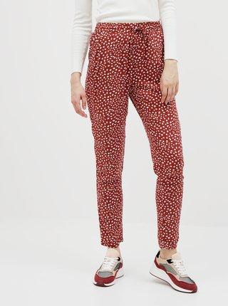 Hnědé vzorované kalhoty ONLY