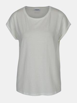 Krémové dámské basic tričko s krátkým rukávem AWARE by VERO MODA Ava