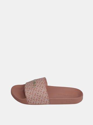 Růžové dámské pantofle Tommy Hilfiger