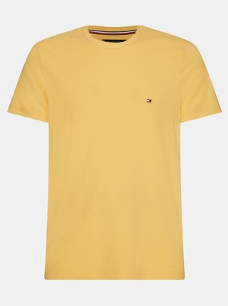 Žlté pánske basic tričko Tommy Hilfiger