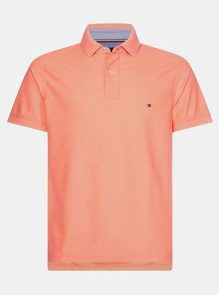 Oranžové pánské basic polo tričko Tommy Hilfiger