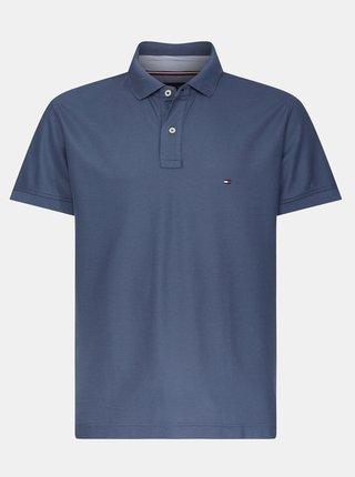 Modré pánské basic polo tričko Tommy Hilfiger
