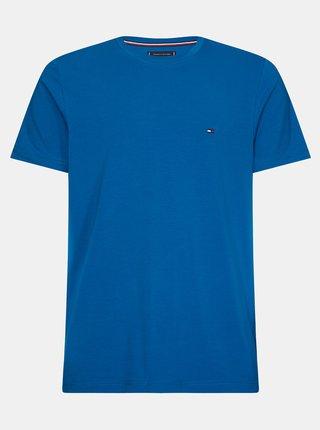 Modré pánské basic tričko Tommy Hilfiger
