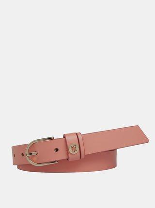 Ružový dámsky kožený opasok Tommy Hilfiger