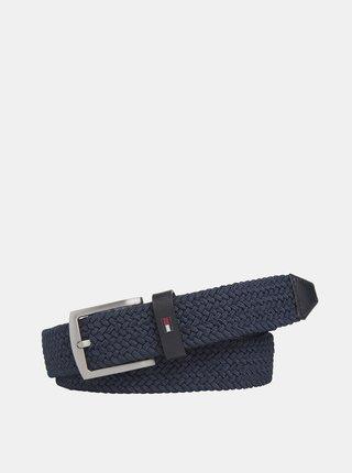 Tmavě modrý pánský pásek Tommy Hilfiger