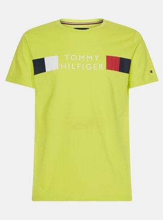 Žluté pánské tričko s potiskem Tommy Hilfiger