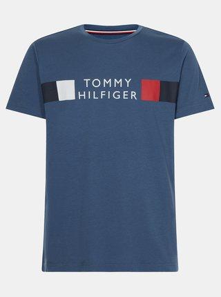 Modré pánské tričko s potiskem Tommy Hilfiger