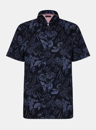 Tmavomodrá pánska kvetovaná košeľa Tommy Hilfiger