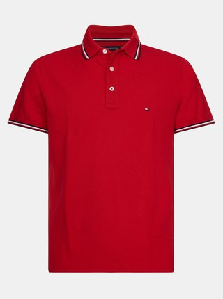 Červené pánské polo tričko Tommy Hilfiger