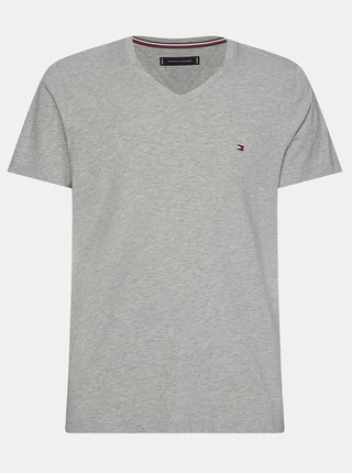 Svetlošedé pánske basic tričko Tommy Hilfiger