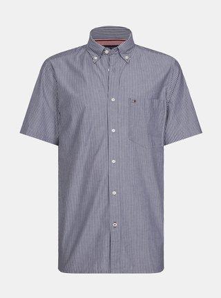 Šedá pánská pruhovaná košile Tommy Hilfiger