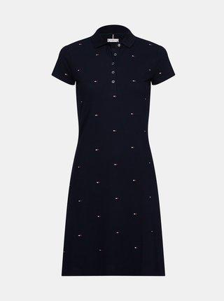 Tmavě modré vzorované polo šaty Tommy Hilfiger