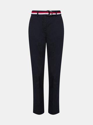 Tmavě modré dámské slim fit kalhoty Tommy Hilfiger