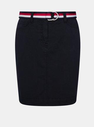 Tmavě modrá sukně Tommy Hilfiger