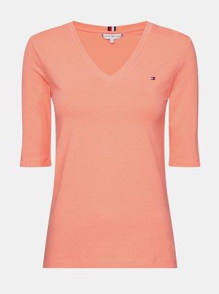 Meruňkové dámské basic tričko Tommy Hilfiger