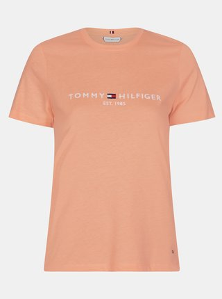Meruňkové dámské tričko s potiskem Tommy Hilfiger
