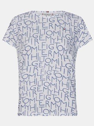 Bílé dámské vzorované tričko Tommy Hilfiger