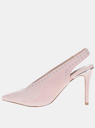 Pantofi roz pal slingback cu toc Miss Selfridge