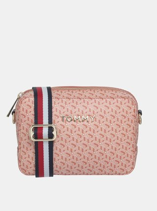 Ružová vzorovaná crossbody kabelka Tommy Hilfiger
