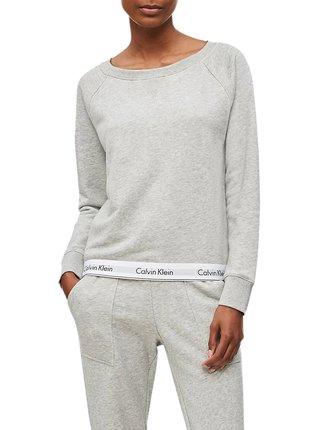Calvin Klein šedá dámská mikina Top Sweatshirt