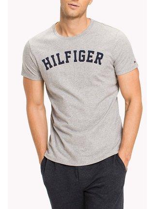 Tommy Hilfiger sivé pánske tričko SS Tee Logo