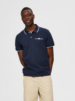 Tmavě modré polo tričko Selected Homme Patterson