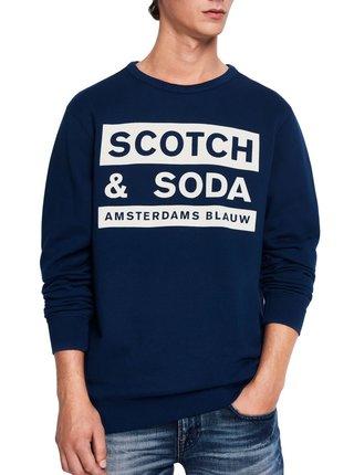Scotch & Soda modrá pánská mikina Amsterdams Blauw