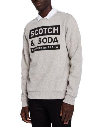 Scotch & Soda šedá pánská mikina Amsterdams Blauw