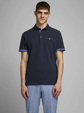 Tmavomodrá polokošeľa Jack & Jones James