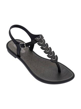 Grendha černé žabky Glamorous Sandal Black/Silver
