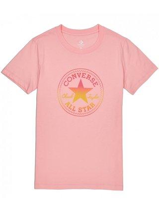 Converse lososové tričko Ombre Crewneck s logem