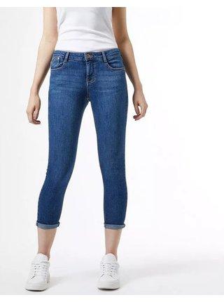 Modré zkrácené skinny fit džíny Dorothy Perkins Harper