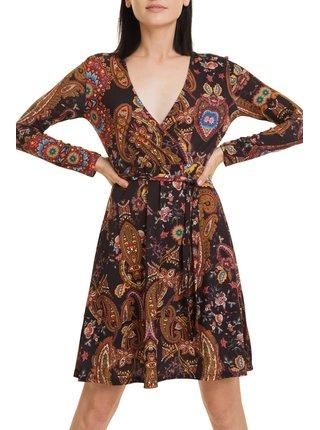 Desigual barevné šaty Vest Cira s barevnými motivy