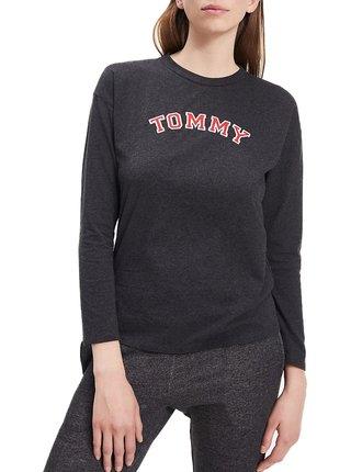 Tommy Hilfiger šedé tričko CN TEE LS