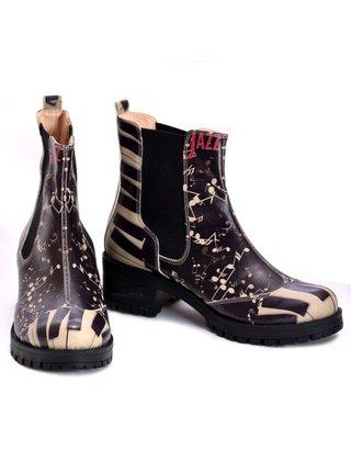 Goby černé kotníkové boty Jazz