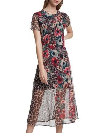 Desigual květinové šaty Vest Calgary