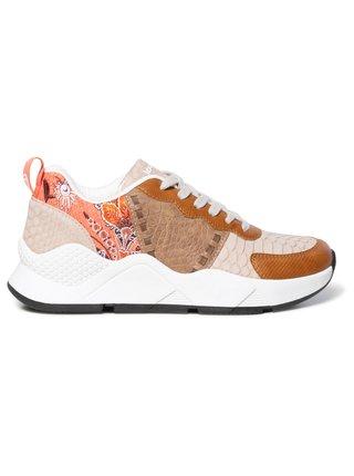 Desigual béžové tenisky na platformě Shoes Hydra Patch