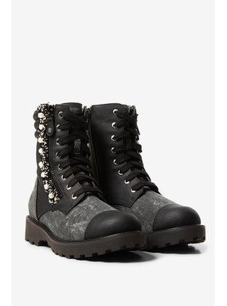 Desigual černé boty Shoes Combat Pearl