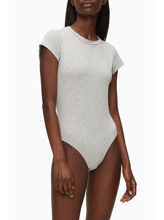 Calvin Klein šedé body Bodysuit S/S
