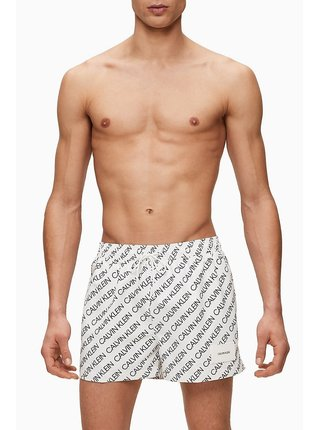 Calvin Klein biele pánske plavky Short Drawstring Print