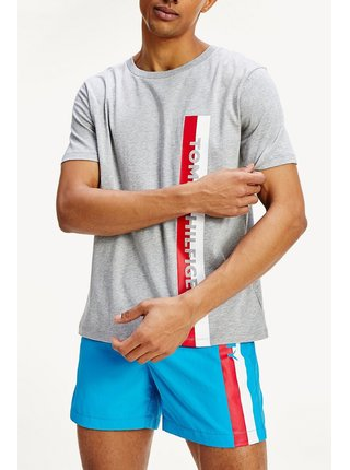 Tommy Hilfiger sivé tričko Crew Neck Tee