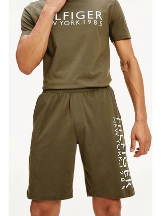 Tommy Hilfiger khaki pánské teplákové kraťasy Short Logo