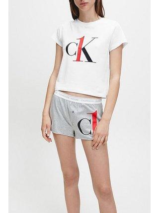 Calvin Klein bílé pyžamo S/S Short set