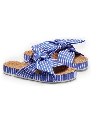 Scotch & Soda pruhované pantofle Yolin Blue/White