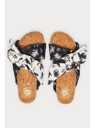 Scotch & Soda černo-bílé pantofle Yolin black/white aloha print