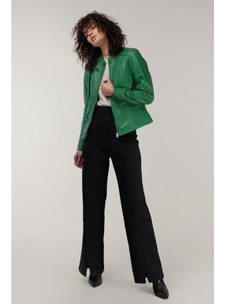 Kara zelená kožená bunda Ruby